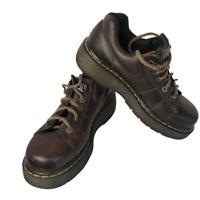 Dr Martens Shoes Women's Docs Brown Oxford Style 9806 Lace Up Leather Sz 9