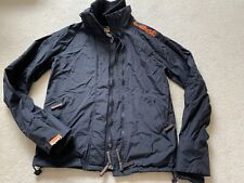 Ladies Superdry Black Orange Wind Cheater Jacket Size Medium