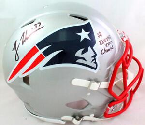 Rodney Harrison Signed Patriots Authentic FS Speed Helmet w 2 Insc-Beckett W*Blk