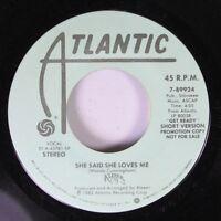 Soul Promo 45 Woody Cunningham - She Said She Loves Me / She Said She Loves Me O