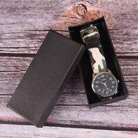 Watch Box Leder Schmuck Armbanduhren Display Organizer Case GeschenkAK