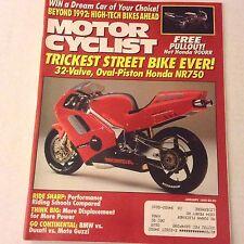 Motor Cyclist Magazine Oval Piston Honda NR750 January 1992 061617nonrh