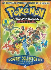 Coffret 5 DVD Pokémon Advanced Battle Collector N°1 Saison 8 Neuf sous Blister