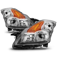 Fit Nissan 07-09 Altima 4Dr Sedan Chrome Housing Replacement Headlights Pair Set