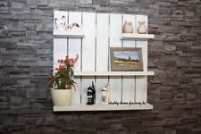 Palettenmöbel Shabby chic Regal weiß Küchenregal Board Vintage Gewürz Board