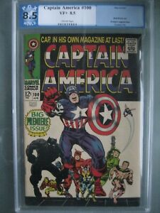 Captain America #100 PGX 8.5 Like CGC 1968 1st Issue - Black Panther appearance