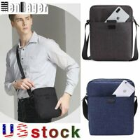 TINYAT Men's Bags Light Canvas Shoulder Bag Casual Crossbody Bags Business Bag