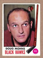 1969-70 Topps #72 Doug Mohns Chicago Black Hawks EX-MT condition