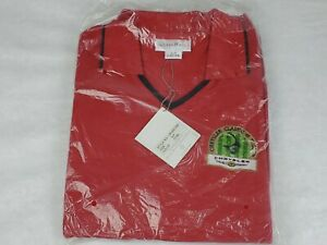NWT Cutter & Buck Womens Red Golf Polo Chrysler Classic Of Tucson PGA Size XL