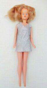TRESSY VINTAGE DOLL Strawberry BLONDE 1960s no key - Original Silver Lurex dress