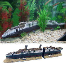 Aquarium Fish Tank Medium Titanic Ship Wreck Boat Ornament Home Decor Xmas Gift