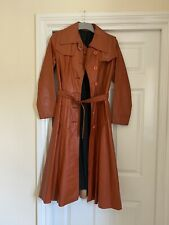 Handmade Fit And Flare Leather Coat Lined Euro 36