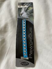 Blue Diamanté Cat Collar With A Bell
