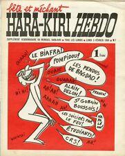 """""""HARA-KIRI HEBDO N°1 du 3/2/1969"""" WOLINSKI : BIAFRA,POMPIDOU,FRANCO,DELON,etc..."""