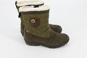 UGG Australia Womens Bellegarde Boots Stout Olive Green Snow Rain Boot Size 6