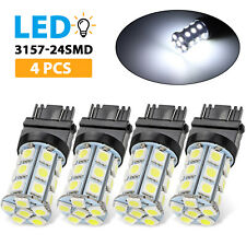 4x White 3157 24-SMD LED Light Bulbs Daytime Running Backup Reverse 3757 3457