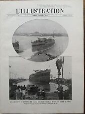 "L' ILLUSTRATION 1910 N 3503 LANCEMENT DU CUIRASSE "" LE VERGNIAUD"" A BORDEAUX"