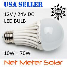 12v 24v 10W LED Light Bulb Solar Home RV Camping  Emergency Lamp Off Grid Boat