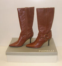 FIORELLI WOMENS POINTY WINTER BOOTS TAN 8.5 LEATHER LADIES MATANA WSK rrp $279