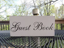 Country Vintage Rustic Beach Barn Guest Book Wood Wedding Sign Table Decoration