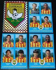 PANINI FOOT 96 LOUHANS-CUISEAUX COMPLET FOOTBALL SAISON 1995-1996