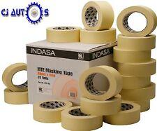 """Indasa 48mm Low Bake Masking Tape 2"""" Rolls High Temp Paint Upto 80C MTE48 X 5"""