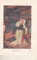 1912 Stampa Miti & Legends Di Giappone ~ Kiyo & The Priest