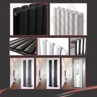 "Chrome Black & White ""Brecon"" Vertical & Horizontal Designer Oval Tube Radiators"