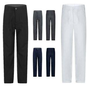 Boys Formal Prom Long Pant Side Pockets Zipper School Performance Uniform Pants