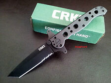 CRKT M16 Stainless Special Forces- Combo Edge Black Handle & Blade M16-10ksf