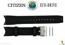 Citizen Eco-Drive Promaster BN0085-01 Black Rubber Watch Band Strap w/ Pins