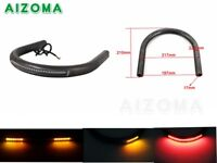 For Cafe Racer Seat Cushion Frame Hoop With LED Turn Singal Running Tail Light