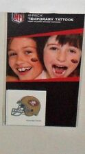 NFL SAN FRANCISCO 49ERS 4 TEMPORARY TATTOOS FAST FREE SHIPPING