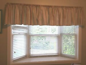 Custom made Lined Valances  2 panels