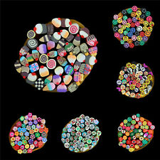 DIY 3D Nail Art Fimo Canes Stick Rod Polymer Clay Stickers Tips Decor Ew