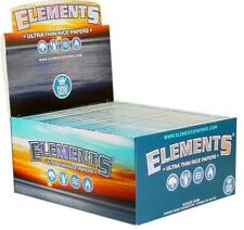 50pc Display - Elements Kingsize Ultra Thin Rolling Papers