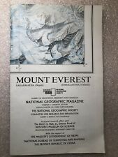 National Geographic Mount Everest Map 1988
