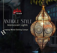 Moroccan Lamps Oriental Pendant Arabian Metal Ceiling Light Hanging Lantern Lamp
