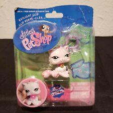 Littlest Pet Shop Pink Persian Cat Kitten Keylight Clip Lps Free Ship Nib 2008