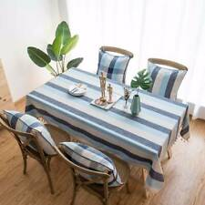 Tassel Stripe Table Cover Cotton Modern Kitchen Home Decor Colorful Table Cloth