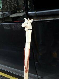 Welsh Handcrafted Hazel walking stick With goat Head Knob Handle