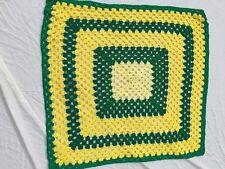 Handmade Afghan Throw Green Yellow John Deere Acrylic