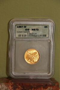 1987 W CONSTITUTION BICENTENNIAL $5 MS70