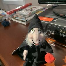 """Witch from Snow White 8"""" Mini Bean Bag Plush The Disney Store New With Tags"""