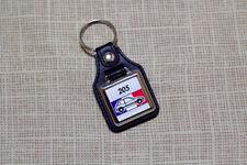 Peugeot 205 Keyring - Leatherette & Chrome Keytag