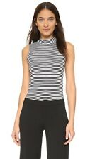 Theory Wendel M Stripe Sleeveless Top XS Black White EUC $105
