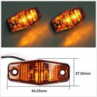 2pcs 12/24v LED Front Side Marker Amber Light Truck Car Trailers Indicator Lamp