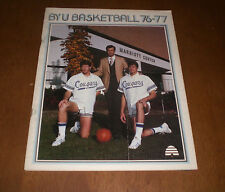 1976-77 BRIGHAM YOUNG UNIVERSITY COUGARS BASKETBALL MEDIA GUIDE