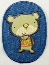 Jeans Applikation zum Aufbügeln Bügelbild 1-573 Teddy Bär auf Jeansfleck