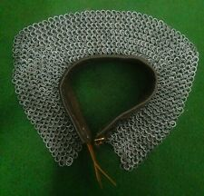 9mm-18 gauge flat ring alt solid ring dome-riveted chainmail mantle collar